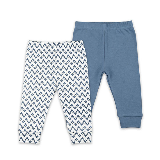The Peanut Shell Blue Chevron 2-Pk. Pant - Baby Boys 2-pc. Pull-On Pants