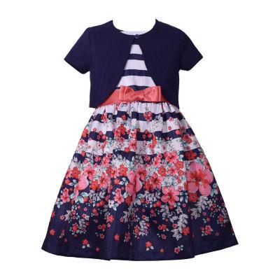 Bonnie Jean 2-pc. Jacket Dress Toddler Girls