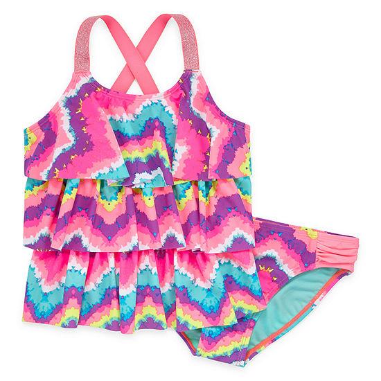 Arizona Ocean Tie Dye Tankini - Big Girls & Plus