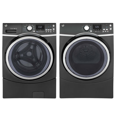 GE Front Load 2-pc. Gas Washer & Dryer Set- Diamond Gray