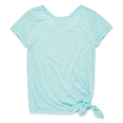Xersion Short Sleeve Round Neck T-Shirt Girls