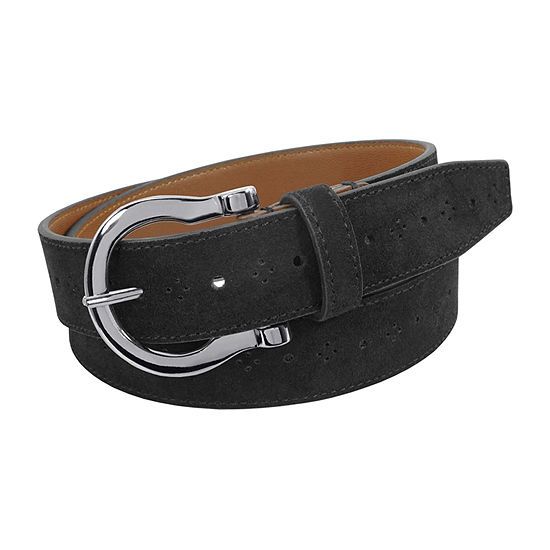 Stacy Adams® Richmond 34MM Suede Belt with Perforated Design