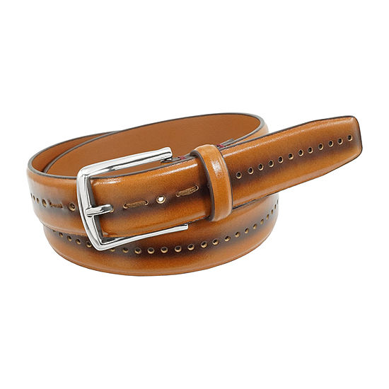 Stacy Adams® Carnegie 33mm Belt with Center Perforated Design