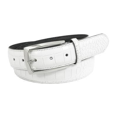 Stacy Adams® Ozzie 34mm Croc Embossed Leather Belt