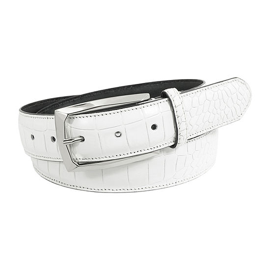 Stacy Adams® Ozzie Croc Embossed Leather Belt
