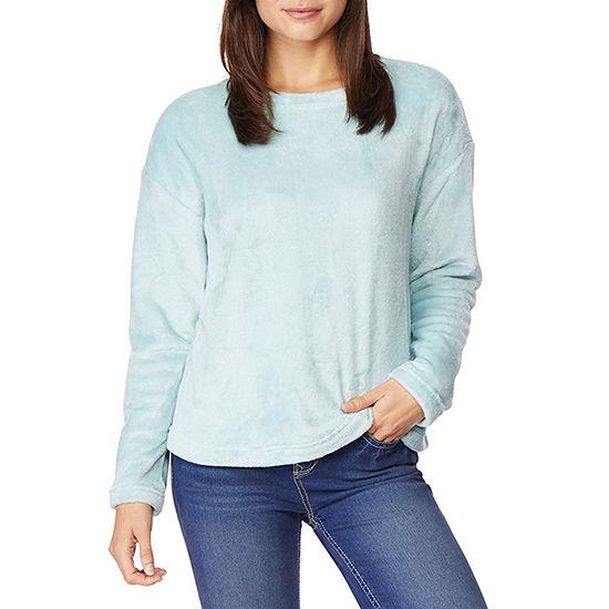 Wallflower Womens Crew Neck Long Sleeve Sweatshirt Juniors