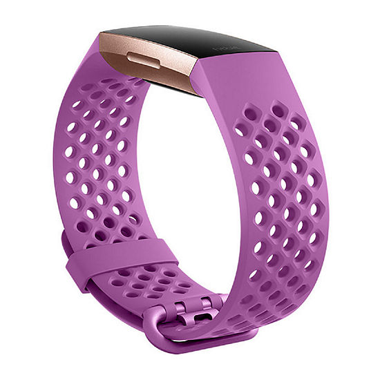 Fitbit Charge 3 Unisex Pink Watch Band-Fb168sblvs