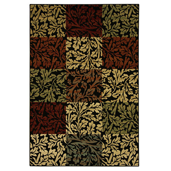 Bacova Guild Shadow Leaf Rectangular Rugs