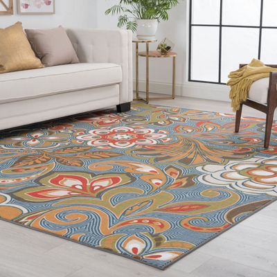 Tayse Dede Transitional Floral Indoor Rectangular Rugs