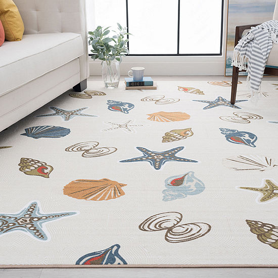 Tayse Shelley Novelty Nautical Indoor Rectangular Accent Rug