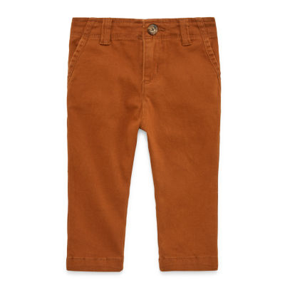Peyton & Parker Happy Stripe Boys Straight Flat Front Pant-Baby