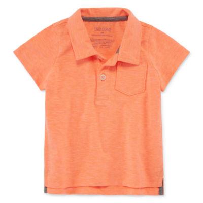 Okie Dokie Boys Spread Collar Short Sleeve Polo Shirt - Baby