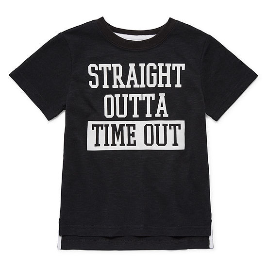 Okie Dokie-Toddler Boys Crew Neck Short Sleeve Graphic T-Shirt
