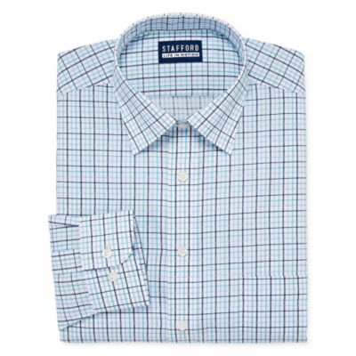 Stafford All Season Cool Max Big And Tall Mens Point Collar Long Sleeve Stretch Cooling Moisture Wicking Dress Shirt