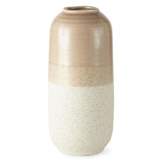 JCPenney Home Tricolor Havana Medium Ceramic Vase