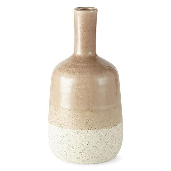 JCPenney Home Tricolor Havana Small Ceramic Vase