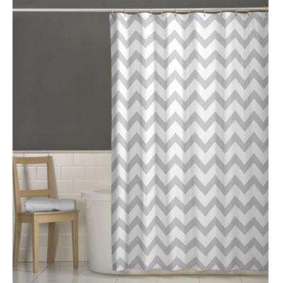Daksh Chevron Shower Curtains Grey Maytex Curtain Jcpenney