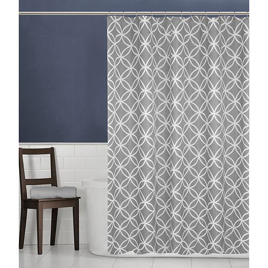 Maytex Emma Geometric Print Shower Curtain