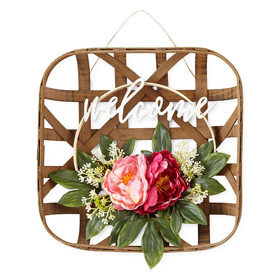 JCPenney Home Floral Welcome Basket
