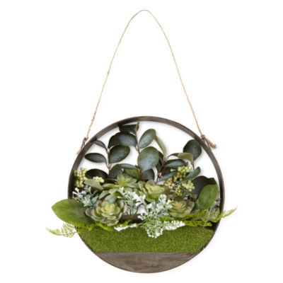 JCPenney Home Hanging Galvanized Succulents