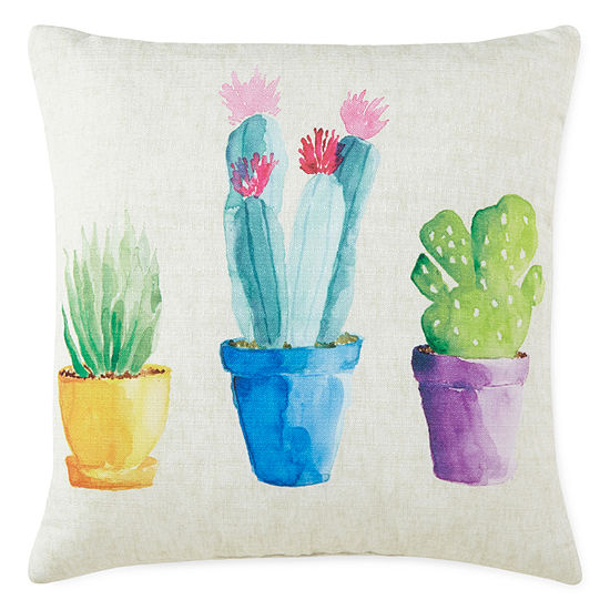 JCPenney Home Cactus Decor Pillow