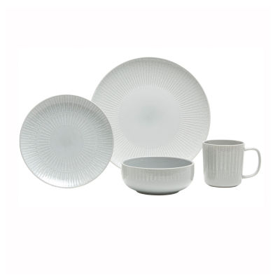 Baum Optic Grey 16-pc. Dinnerware Set