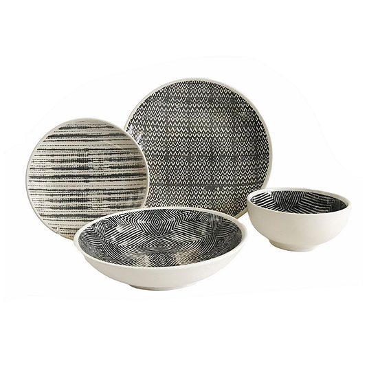 Baum Dalton Grey 16-pc. Dinnerware Set