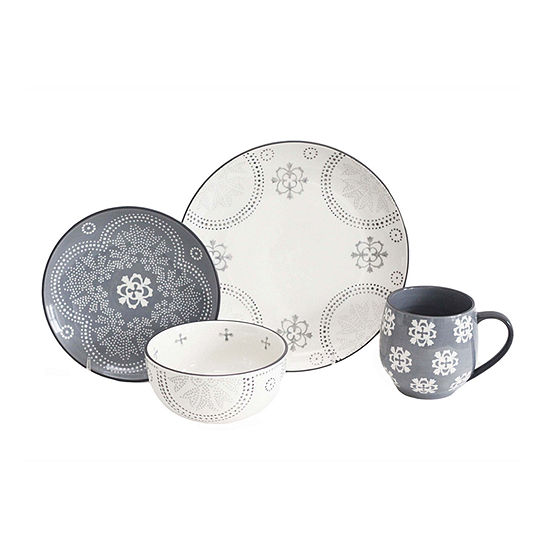 Baum Phara Grey 16-pc. Dinnerware Set