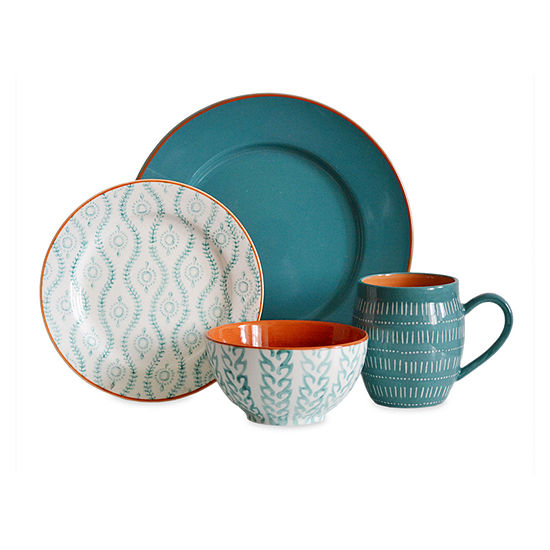 Baum Tangiers Turq 16-pc. Dinnerware Set