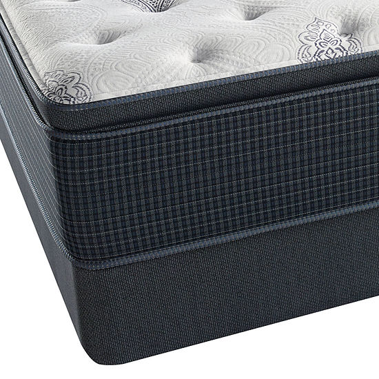 2bc43b107ad Simmons Beautyrest Silver Snowhaven Pillowtop Plush Mattress + Box Spring  JCPenney