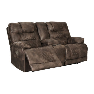 Signature Design by Ashley Welsford Pad-Arm Power Recline Loveseat