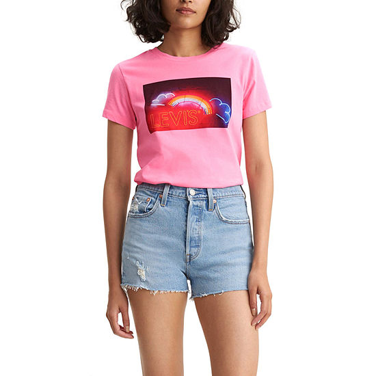 cce6726f18f Levi s® Womens Crew Neck Short Sleeve Graphic T-Shirt - JCPenney
