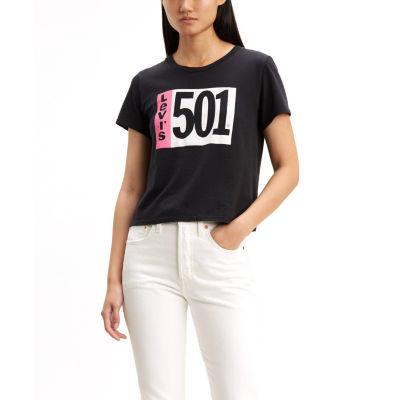 Levi's Womens Crew Neck Short Sleeve Graphic T-Shirt
