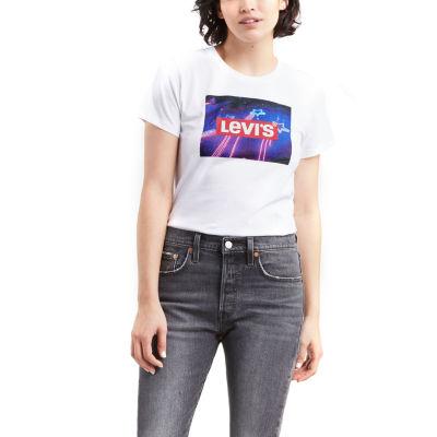 Levi's® Womens Crew Neck Short Sleeve Graphic T-Shirt