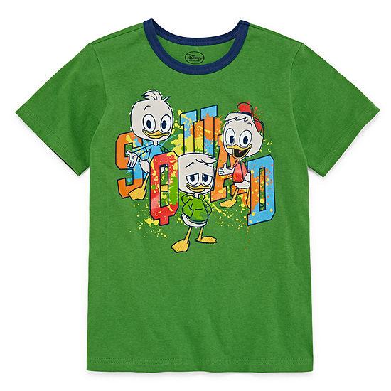 Disney Boys Round Neck Short Sleeve Duck Tales Graphic T-Shirt Preschool / Big Kid