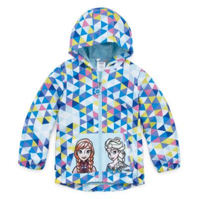 Disney Girls Frozen Water Repellant Lightweight Raincoat Preschool / Big Kid