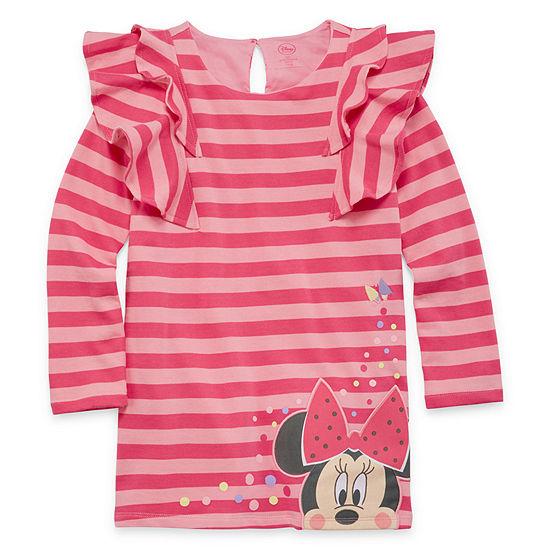 Disney Long Sleeve Minnie Mouse Shirt Dress