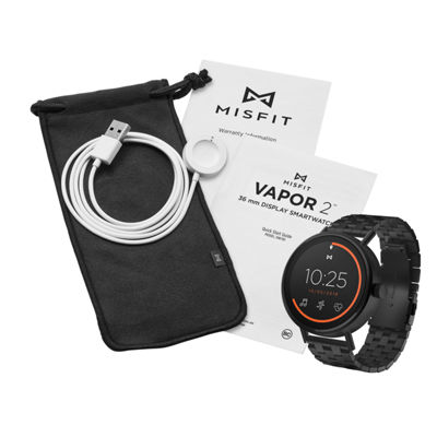 Misfit Vapor 2 Unisex Black Smart Watch-Mis7202