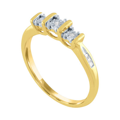 Womens Diamond Accent Genuine Diamond 10K Gold Cocktail Ring
