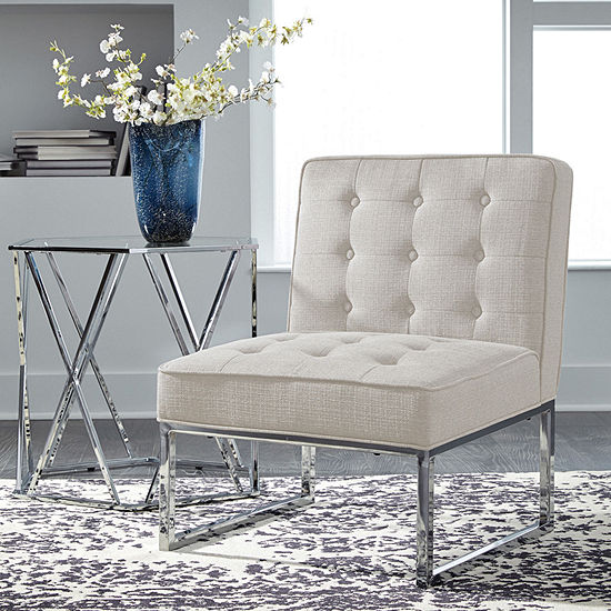 Signature Design By Ashley Cimarosse Button Tufted Armless Accent Chair