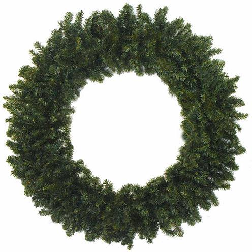 "48"" Unlit Canadian Pine Artificial Christmas Wreath"