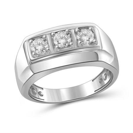 Fine Jewelry Mens 1/4 CT. T.W. Round White Diamond 10K KhlxF