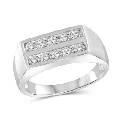 Mens 1 CT. T.W. Genuine White Diamond 10K Gold Fashion Ring