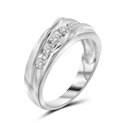 Mens 1 CT. T.W. Genuine Diamond White