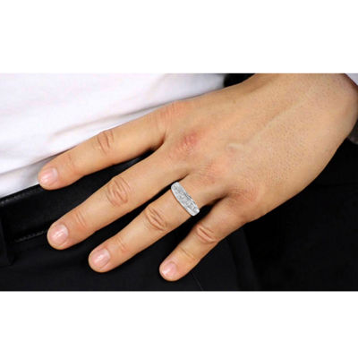 Mens 1 CT. T.W. Genuine White Diamond 10K Gold Mens Fashion Rings
