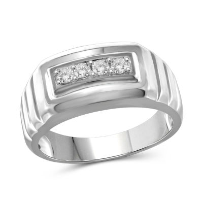Mens 1/4 CT. T.W. Genuine Round White Diamond 10K
