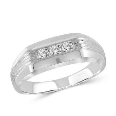 Mens 1/4 CT. T.W. Genuine Round White Diamond 10K