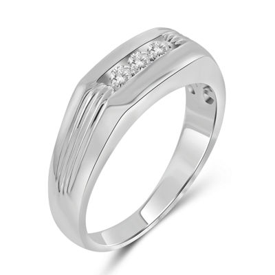Mens 1/4 CT. T.W. Genuine White Diamond 10K Gold
