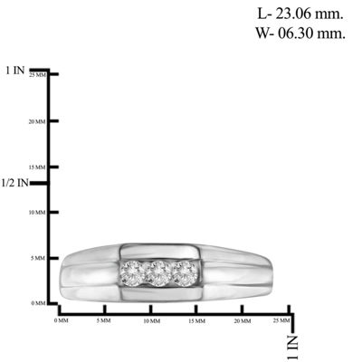 Mens 1/4 CT. T.W. Genuine White Diamond 10K Gold Mens Fashion Rings