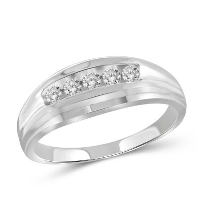 Mens 1/3 CT. T.W. Genuine White Diamond 10K Gold Fashion Ring